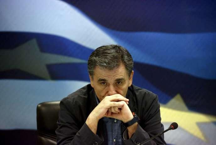 Euclide Tsakalotos à Athènes le 6 juillet 2015.
