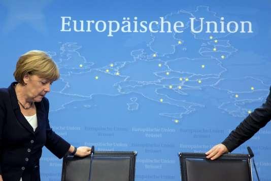 Angela Merkel à Bruxelles, le 13 juillet.