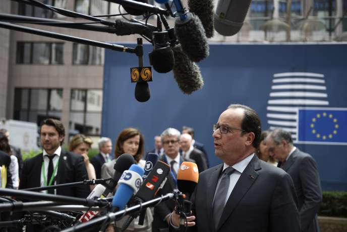François Hollande, au siège de l'Union européenne, à Bruxelles, le 25 juin.