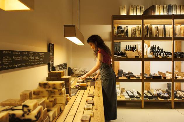 La boutique de savons artisanaux Kiphy, dans le centre historique de Naples.
