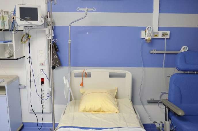 Une chambre d'hôpital à Angers en octobre 2013.
