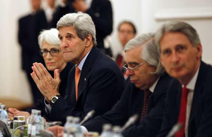 Le secrétaire d'Etat américain, le 7 juillet à Vienne, lors des négociations sur le nucléaire iranien.