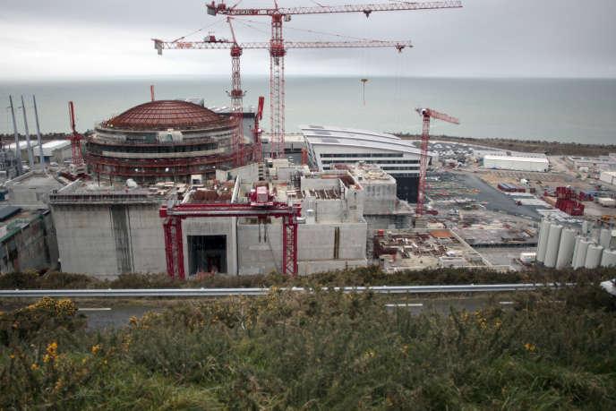 Le chantier de l'EPR de Flamanville en avril 2014.