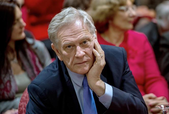 Pierre de Saintignon,  vice-président de la région Nord - Pas-de-Calais, le 9 mars, à Lille.