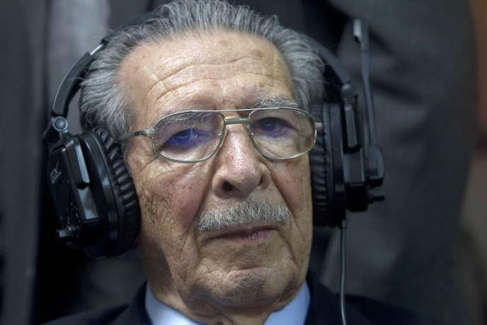 Efrain Rios Montt, le 10 mai 2013.