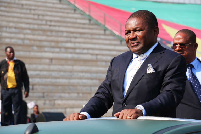 Le président mozambicain Filipe Nyusi, à Maputo le 25 juin 2015.