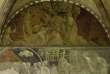 """La fresque du """"Déluge"""", de Paolo Uccello (1397-1475), dans le cloître dit """"Chiostro Verde"""" du couvent dominicain Santa Maria Novella, à Florence (Italie)."""