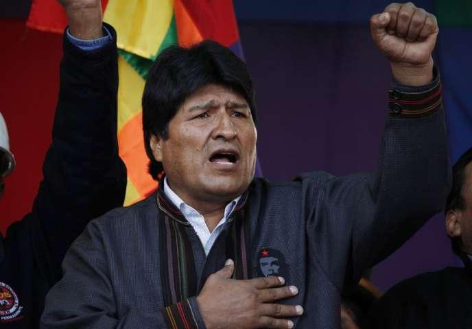 Le président bolivien, Evo Morales, en mai 2013 à La Paz.