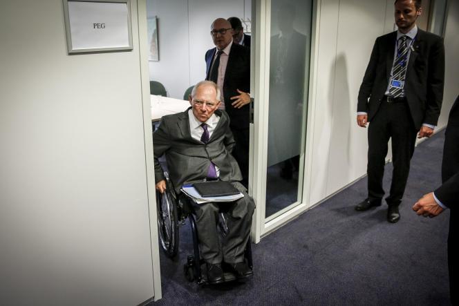 Wolfgang Schäuble  à Bruxelles, Belgique, le 7 juillet.