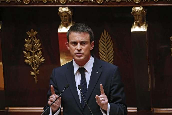 Manuel Valls, à l'Assemblée nationale, le 8 juillet.