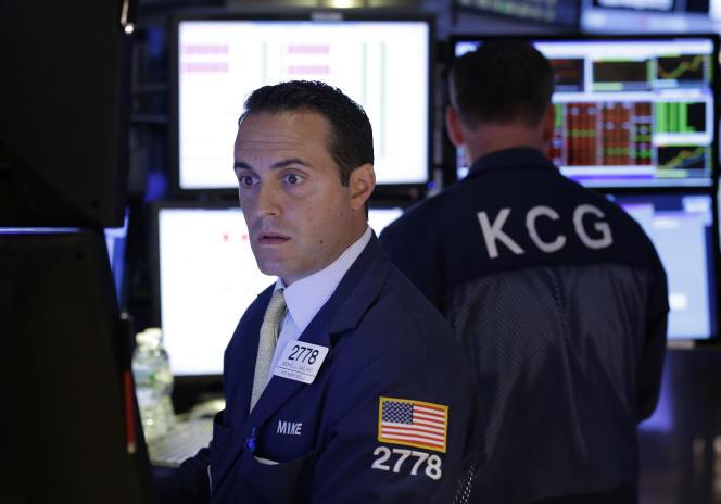 Au New York Stock Exchange, le 8juillet, pendant l'interruption de fonctionnement de la plate-forme.