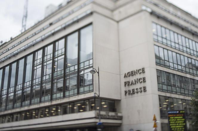 Le siège de l'Agence France-Presse, à Paris, place de la Bourse.