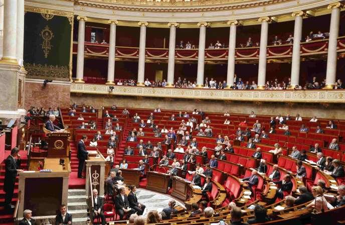 Vue de l'hémicycle de l'Assemblée nationale, en juillet 2015.  REUTERS/Jacky Naegelen