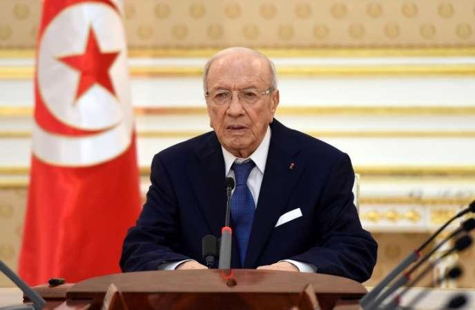 Le président tunisien Beji Caid Essebsi, le 28 juin à Tunis.