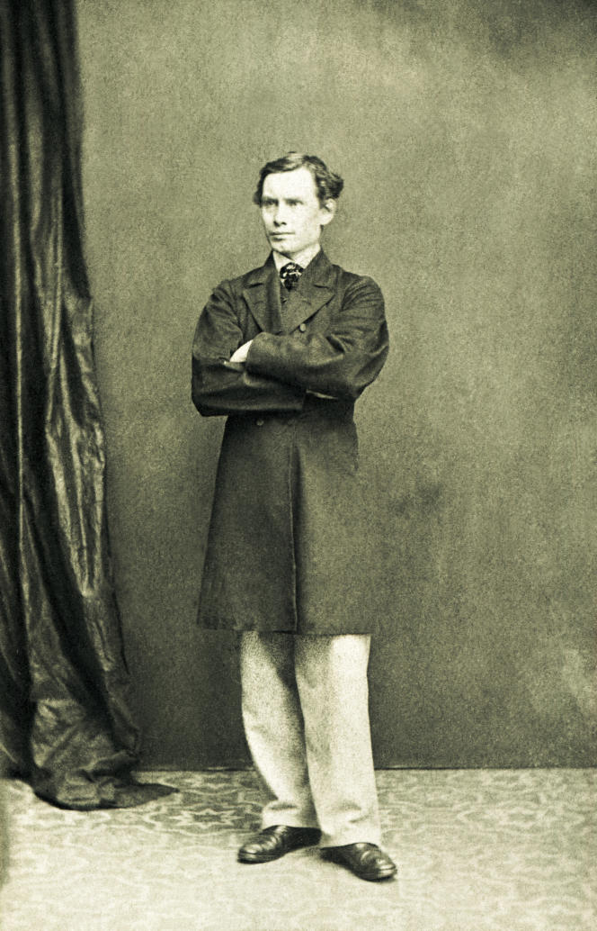 L'Anglais Edward Whymper (1840-1911), le vainqueur du Cervin. Photo de 1864.