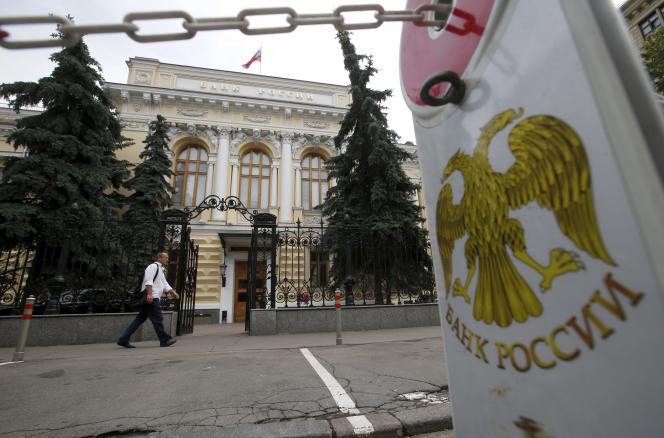 Siège de la banque centrale russe, à Moscou, en juillet 2015.