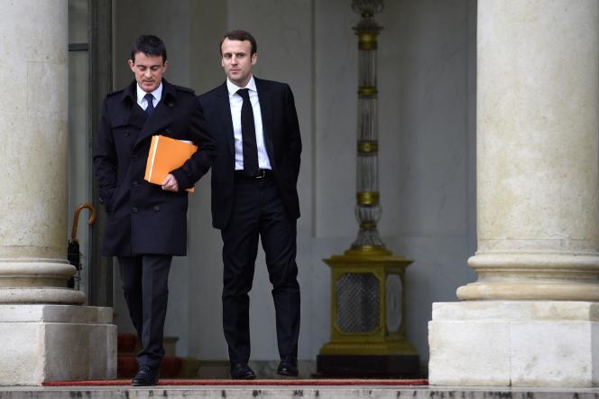 Manuel Valls et Emmanuel Macron, le 10 décembre.