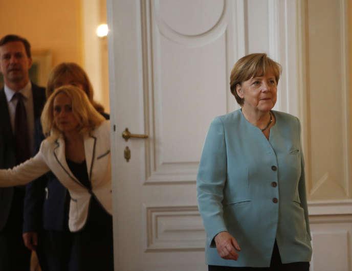Angela Merkel à Sarajevo (Bosnie), jeudi 9 juillet.