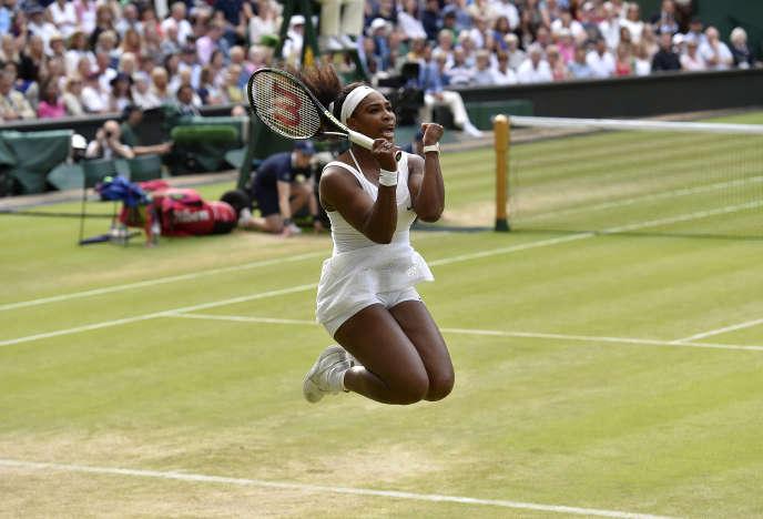Serena Williams à Wimbledon le 7 juillet.