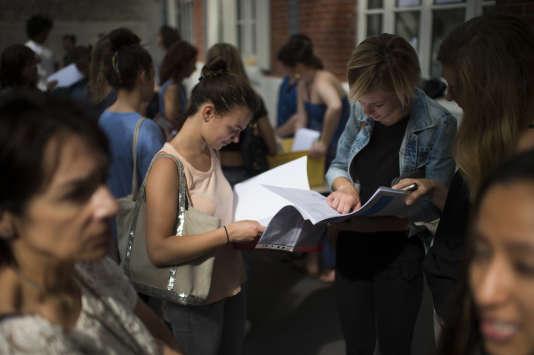 Au lycée Georges-Brassens, le 7juillet2015.
