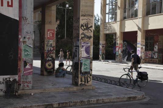 Athenes, 8 Juillet 2015.  L'Université polytechnique nationale d'Athènes dans le quartier d'Exarchia est célèbre pour ses protestations étudiantes de 1973 contre la dictature de la junte des colonels.