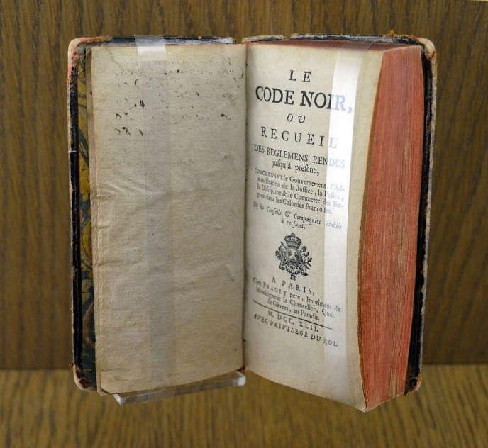 Un exemplaire du Code noir, conservé au musée de Nantes.