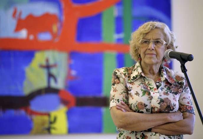 La maire de Madrid Manuela Carmena, empêtrée dans un nouveau scandale à la suite de la création d'un site Internet, destiné à corriger les erreurs des journalistes.