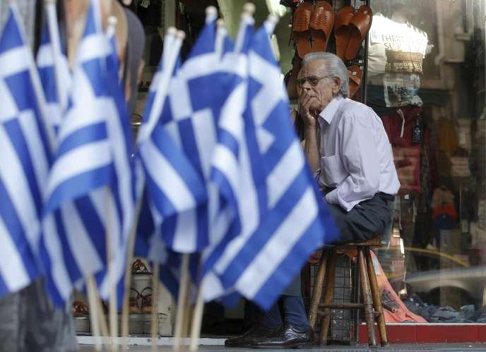 A Athènes, le 10 juillet  2015.
