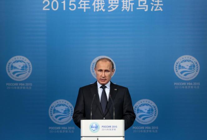 Le président russe Vladimir Poutine, vendredi 10 juillet, à Oufa.
