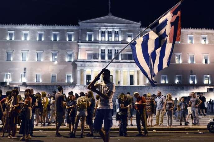 Rassemblement contre l'austérité, place Syntagma, dans le centre d'Athènes, le 10 juillet.