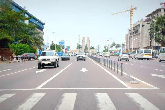 Le boulevard Lumumba, à Kinshasa, la capitale de la RDC, janvier 2015.
