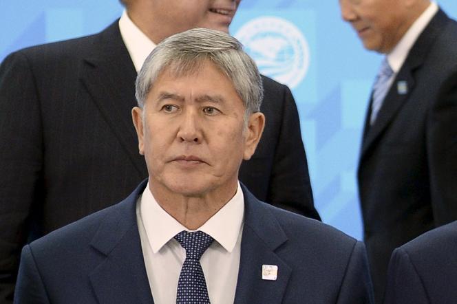 Almazbek Atambaïev, le 10 juillet 2015 à Oufa (Russie).