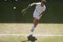 Richard Gasquet en demi-finale de Wimbledon le 10 juillet.