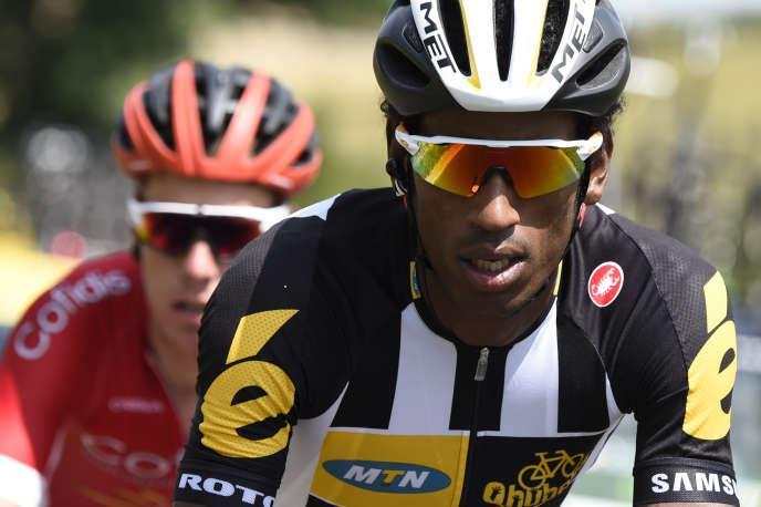 Le coureur érythréen, Daniel Teklehaimanot, lors de la 6e étape du Tour de France le 9 juillet.