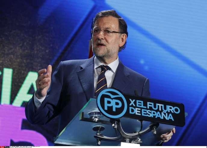 Le chef du gouvernement espagnol, Mariano Rajoy, lors de la conférence du Parti populaire, le 10 juillet.