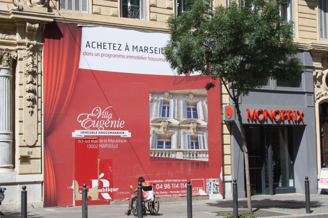 Généralement, le coût d'une assurance standard oscille entre 0,20 % et 0,25 % du montant du crédit, mais il peut doubler, voire tripler pour un risque aggravé (photo: Programme immobilier neuf rue de la République à Marseille).