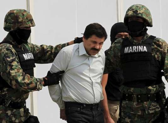 Joaquin «El Chapo» Guzman lors de son arrestation le 22 juillet 2014.