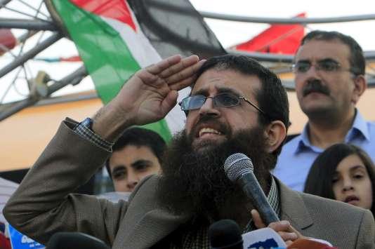 Le palestinien Khader Adnane le jour de sa libération après un an de détention, dimanche 12 juillet.