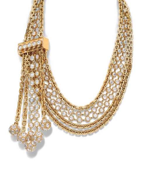 Collier en or, diamants taille rose et cristal de roche, collection Masterpieces, Tiffany & Co.
