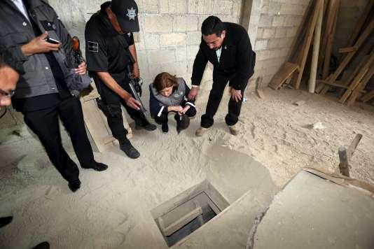 L'endroit par lequel El Chapo est sorti lors de son évasion.