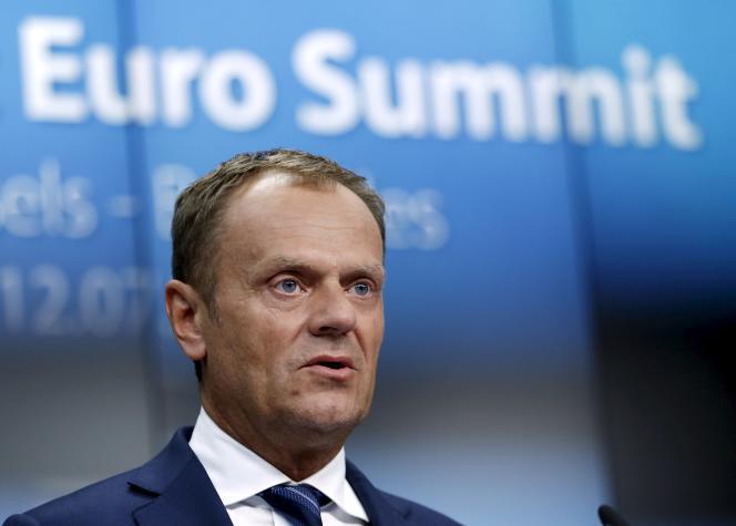 Le président du Conseil européen, Donald Tusk, à Bruxelles le 13 juillet.