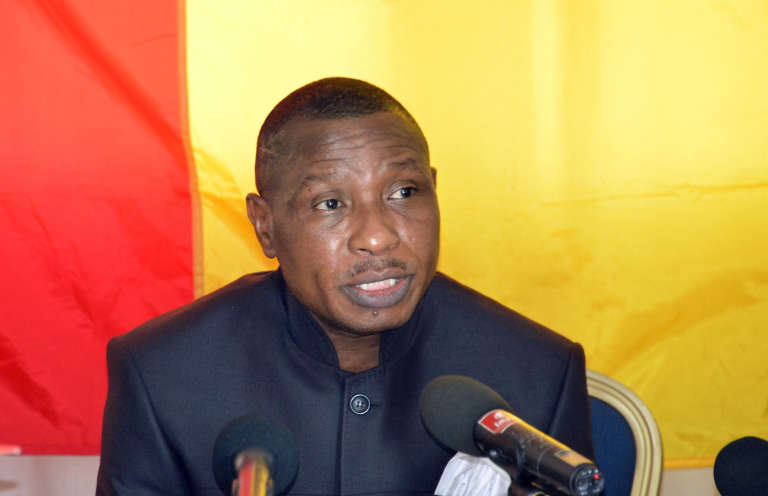 Moussa Dadis Camara le 11 mars 2015 à Ouagadougou (Burkina Faso).