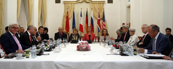 Réunion sur le dossier du nucléaire iranien, lundi 13 juillet.