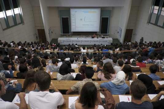 Rentrée universitaire à Aix-Marseille, en septembre 2014.