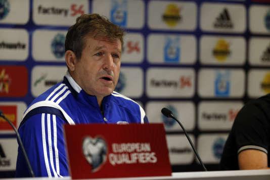 Safet Susic, lorsqu'il entraînait l'équipe de Bosnie-Herzégovine (2009-2014).