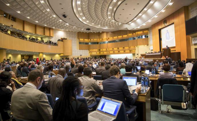 Jour d'ouverture de la troisième conférence internationale sur le financement du développement, à Addis-Abeba (Ethiopie), le 13 juillet.
