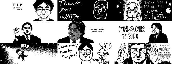 Hommages à Satoru Iwata sur le Miiverse, le réseau social de Nintendo.