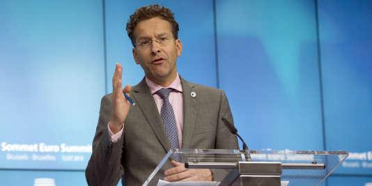 Jeroen Dijsselbloem, lundi 13 juillet à Bruxelles.