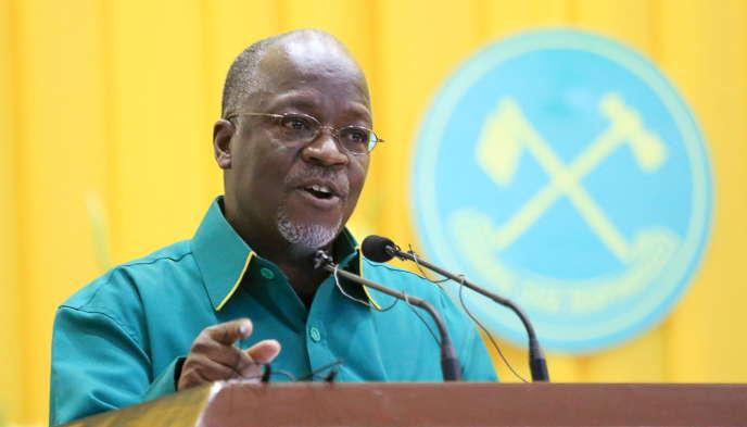 En juillet 2015, à Dodoma, John Magufuli, alors ministre des travaux publics. L'ancien professeur de chimie a été élu président de la Tanzanie le 25 octobre 2015.