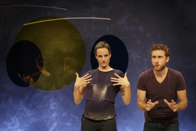 Sofia Dias et Vitor Roriz, danseurs, dans «Antoine et Cléopâtre», de Tiago Rodrigues.